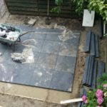 These tiles weighed a TON and this took us 6 weeks.