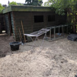The shed before.