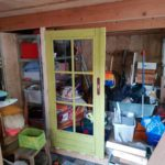 What a mess. But look at that door! I spent days looking for a door that was small enough. Yay for second hand!