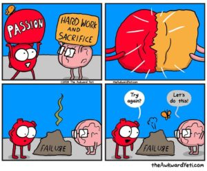 Comic about trying by The Awkward Yeti