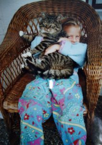 Me and a cat
